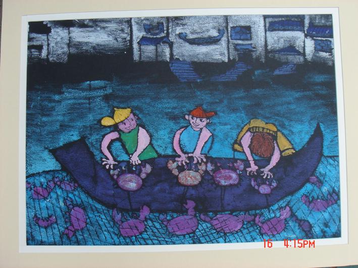 加 首届宣城中小学生书画展 部分美术作品 书法作品将陆续更新图片