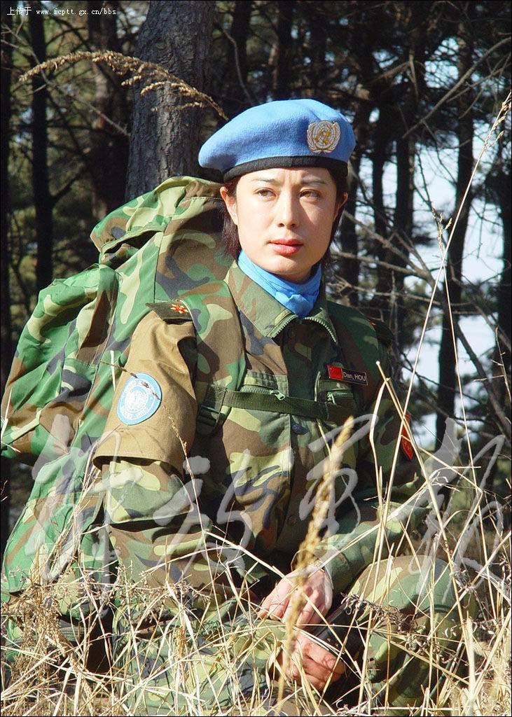 我国派出的维和部队女军人图片